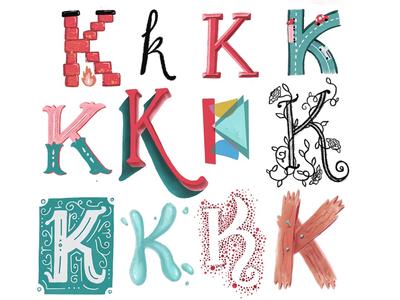 drop cappin' lettering letters procreate k dropcap monogram typography handlettering