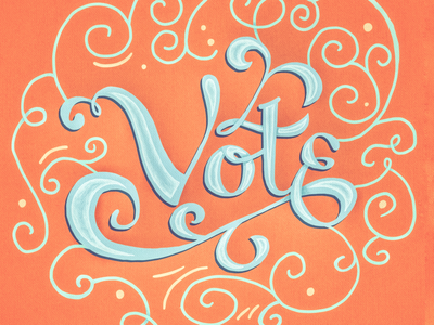 Vote! swash typography procreate rockthevote usa election midterms handlettering lettering vote