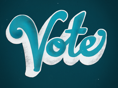 Vote vote vote! vintage typography procreate rockthevote usa election midterms handlettering lettering vote