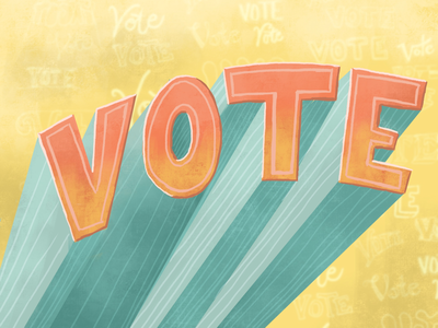 Yayyy voting! typography procreate rockthevote usa election midterms handlettering lettering vote