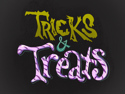 Happy Halloween!!! scary spooky hand lettering typography lettering candy trick or treat halloween
