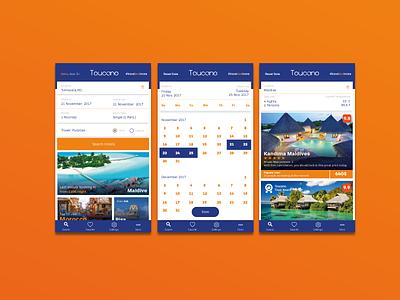 Hotel App / Calendar / Result list ios calendat app design result list app user interface ui app ui booking calendar result list hotel booking hotel app app desing booking app