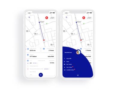 Public transportation app / concept v1 transportation app public transportation ui design uid user interface ui