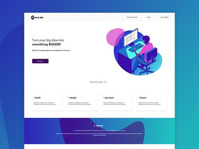 Simple Landing Page Ui / UX concept