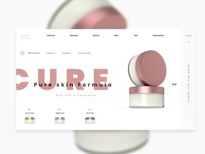 Web ui / ux design cosmetics