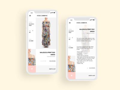 Shopping app ui / ux design concept