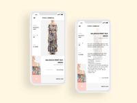 Shopping app ui / ux design concept