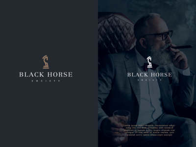 Black Horse Society - Branding Logo Concept