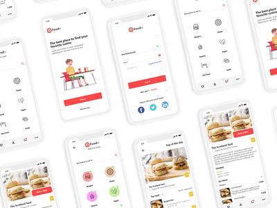Food finder app concept