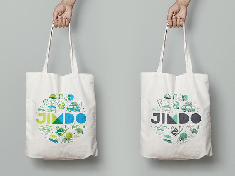 Jimdo Tote Bags merchandise illustration icons jimdo tote bag