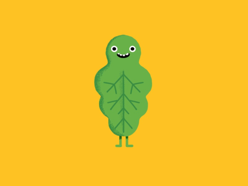 Character Design jimdo character leaf green
