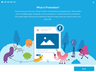 Facebook Promotion Tool character curious creatures park advertising post paid share tool promotion jimdo facebook