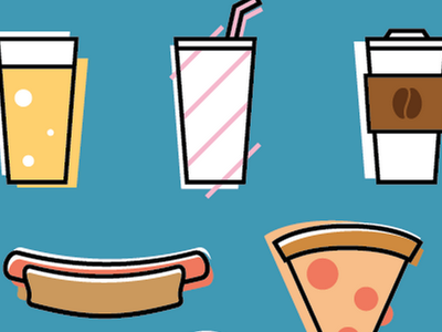 Food Icons food icons pattern app mobile