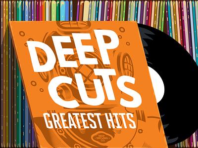 Greatest Hits diverhelmet helmet diver records record design illustration branding brand vector