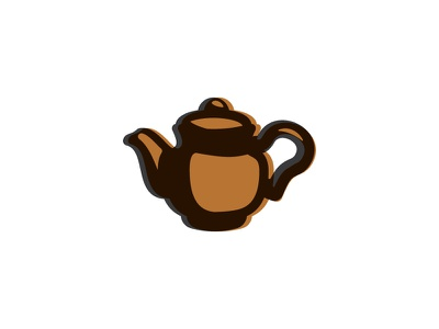 Tea Pot Off Set Ink logo vector icon tea pot pot tea