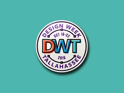 Design Week Tallahassee Pin #1 design tallahassee dwt circle vector badge pin