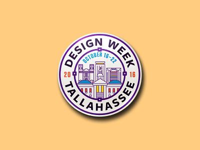 Design Week Tallahassee Pin #2 design tallahassee dwt circle vector badge pin
