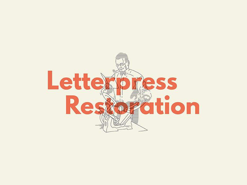 Letterpress Restoration table top kelsey graphic line lines restoration letterpress vector