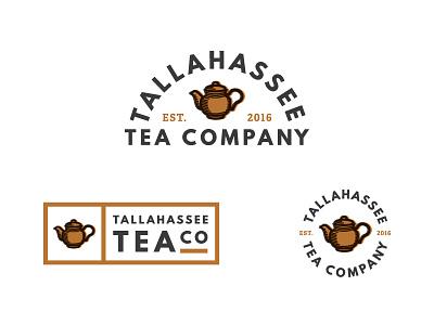 Tallahassee Tea Company branding logo tea pot vector company tea tallahassee