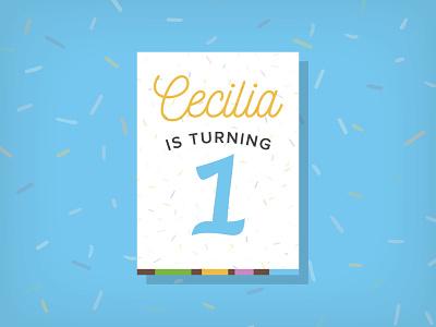 Cece Invite birthday first baby invite 1