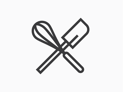 Lil Doods #3 - Mixin it Up mixing mixin bake off whisk spatula vector thick simple one color lines doodle dood