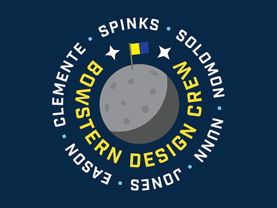 BowStern Design Crew planet vector team space flag moon bowstern