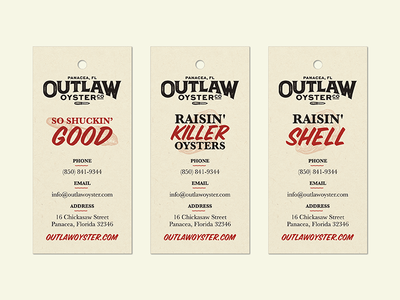 Outlaw Oyster Tags