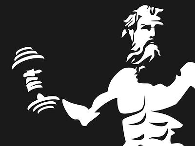 Hard Shadows poseiden vectors hard shadow shadow lift weight gym
