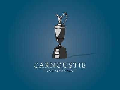The Open vector trophy british golf jug claret carnoustie open