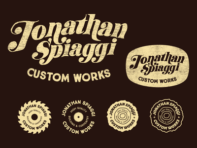 Woodworking Logo wood branding brand saw logo