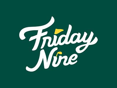 Friday9 branding golf 9 nine friday logo