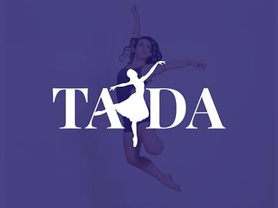 TADA Dance Studio simple vector branding purple logo dancer dance tada
