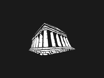 Temple Mark simple mark vector branding icon brand illustration temple
