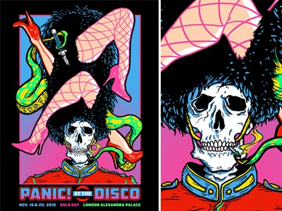 P!ATD London Poster band merch illustration poster