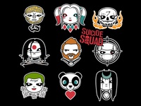Suicide Squad Character Heads