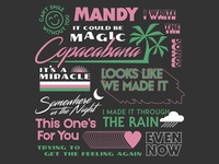 Barry Manilow Song Titles Tee