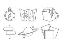 """Exploring Books"" Icons - In Progress"