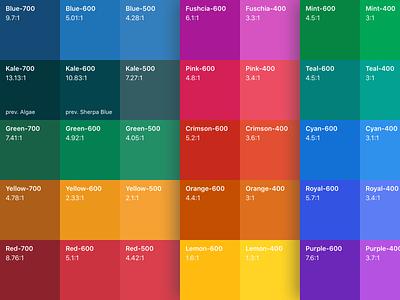 Zendesk Garden color palette color palette design system zendesk
