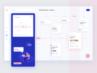 Pharmacy App Calendar pharmacy app illustration objectivity ux ui dashboard sketch