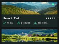 Cycling app path list