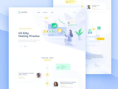 UX Kitty Meeting Landing Page