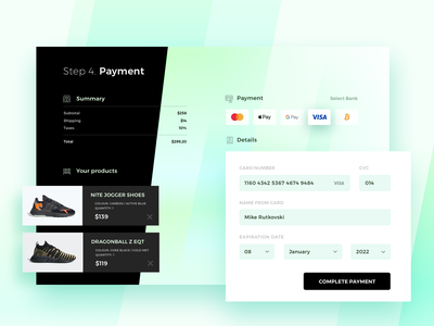 Credit Card Checkout objectivity dailyui shop ecommerce checkout nmd adidas kick sneakers sketch design ux ui app