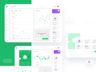 Custom Reports App - configure your chart custom create report chart dashboard dash objectivity ux ui app sketch