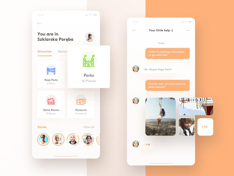 Travelers app with live chat ios iphonexs iphonex app ux ui design sketch
