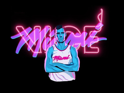 Miami Heat Goran Dragic Vice Uniform goran dragic miami vice miami heat illustration nba basketball vice miami