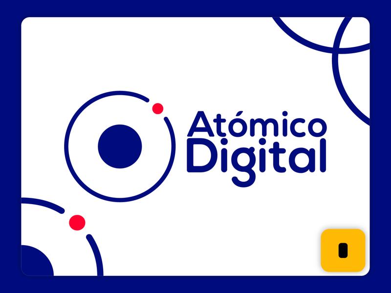 Logo Atomico Digital web branding design vector logo