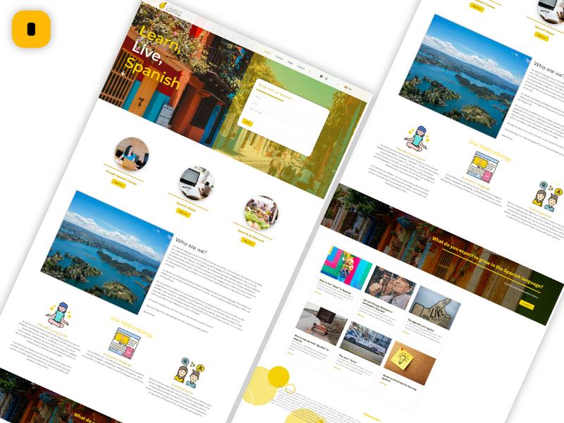 Pagina Cultura ELE ux branding web ui