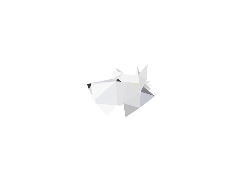 Dog terrier polygon dog