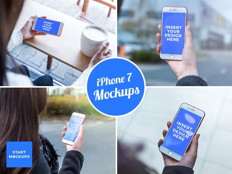 Free and Premium iPhone 7 Mockups