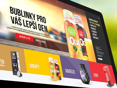 LIMO BAR - Redesign drinks homepage orange ecommerce eshop creative juice soda drink ui webdesign web
